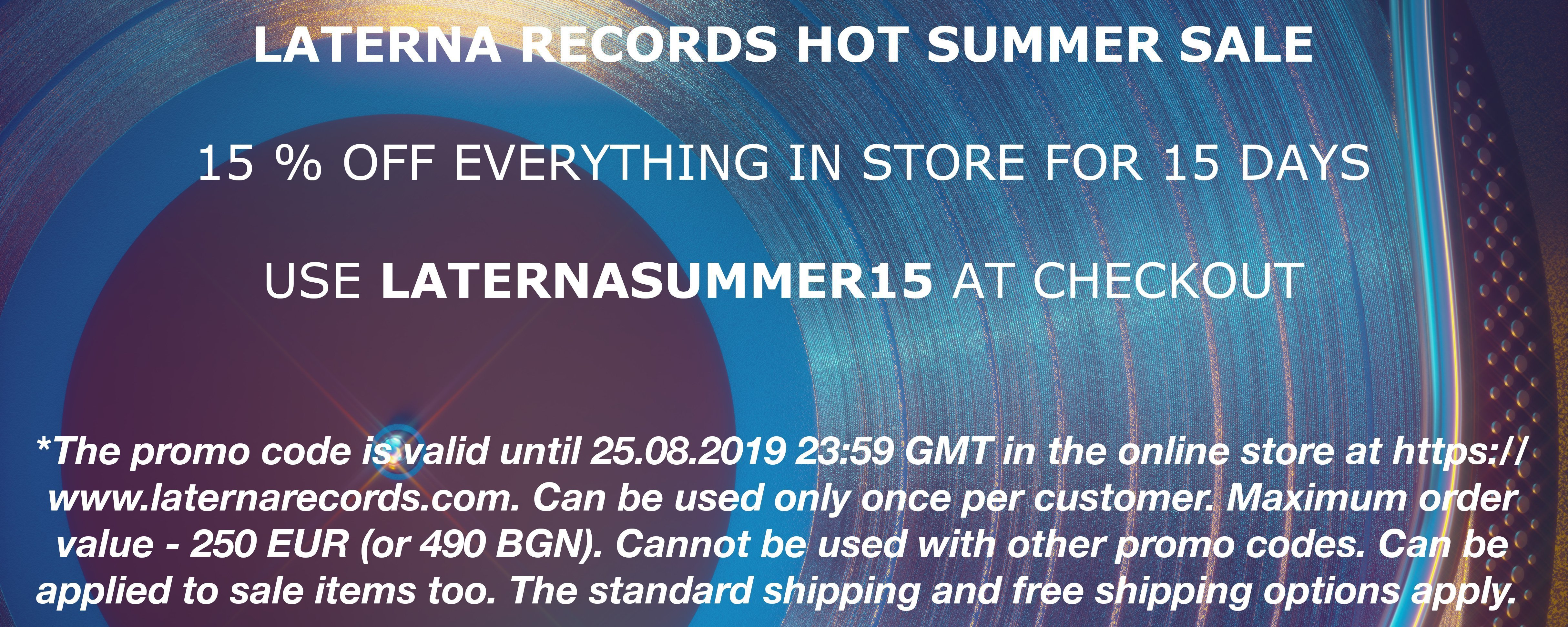 Laterna Records Summer Sale Banner EN