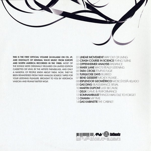 Image of the music record Various — The Minimal Wave Tapes Volume One — Stones Throw Records